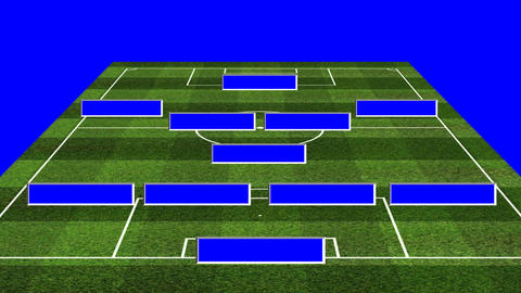 3D BS Football Lineup 451 stock footage