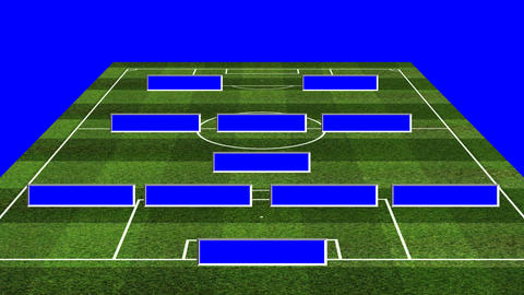 3D BS Football Lineup 4132 Animation