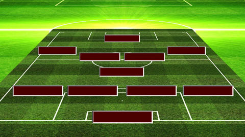 3D Football Lineup 451 Animation
