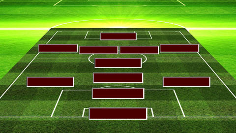 3D Football Lineup 4141 Animation