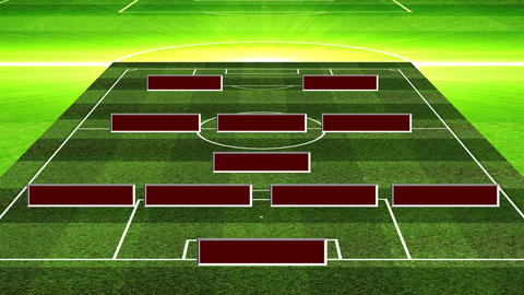 3D Soccer Lineup 4132 Animation