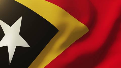 East Timor flag waving in the wind. Looping sun rises style. Animation loop Animation