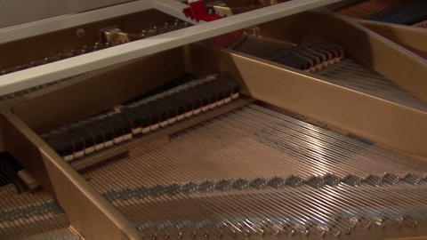 Grand Piano Strings And Interior stock footage