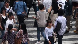 4k Scramble Crossing Tokyo Pedestrian Interesection Japan Transport People City stock footage