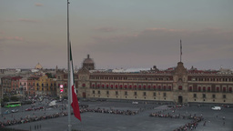 Zocalo Flag Mexico City Flag Change stock footage