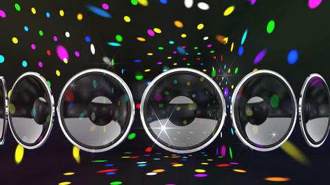 Disco Speaker AL2 HD stock footage