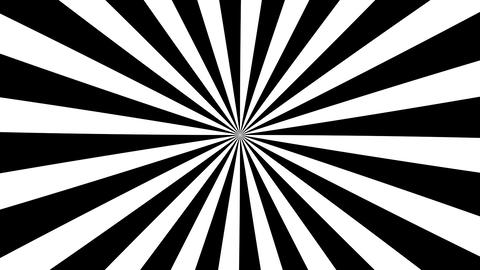 B&W Psychedelic Spinning Loop 01 Animation