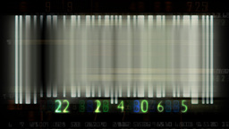 Bar code flashing and animated random numbers,sound included CG動画素材
