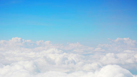 Soft. Fluffy Clouds Under A Blue Sky stock footage
