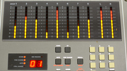 Level meter of a mixing console Footage