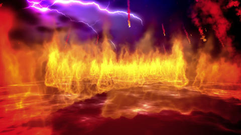 Fire Inferno Loop stock footage