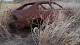 Junk Car Dry Grass stock footage