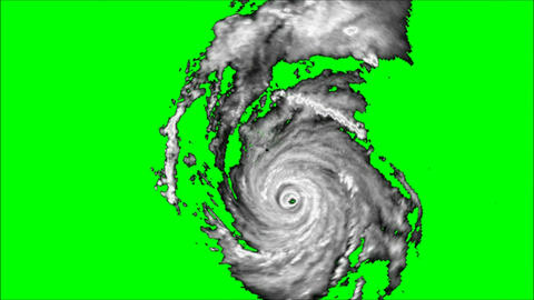 Hurricane Alpha Channel stock footage