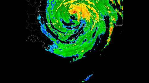 Hurricane Katrina Landfall Time Lapse Animation