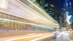 4k Timelapse Video Of Busy Traffic In The Central Business District Of Hong Kong stock footage