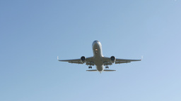 Commercial Airliner Landing 4k stock footage