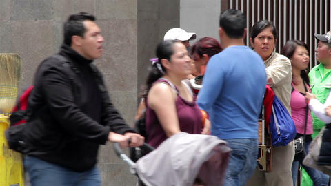 Mexico City, Mexico-August 2014: Organ Grinder, Playing The Organ In The Street stock footage