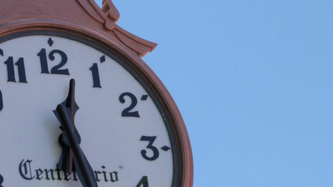 Tlaxcala, Mexico-August 2014: TIME LAPSE-CLOSE UP-TILT DOWN. Clockwise Are Movin stock footage