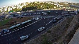 4K Road-Chaos Near The Stadium In Jerusalem Before S Soccer Game (time Lapse) stock footage