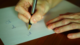 Writing Letter To God stock footage