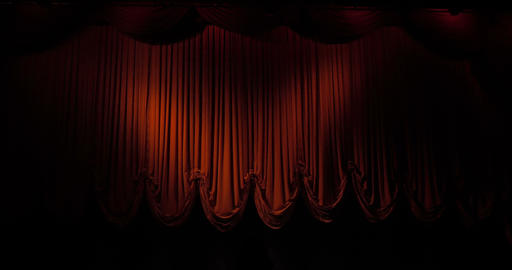 Curtain 03 stock footage