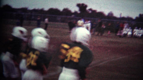 (8mm Vintage) Youth Football Kickoff Footage