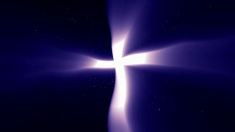 Christian Light Cross Of Heaven Concept stock footage