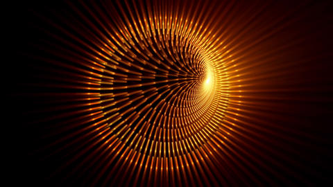Radiate Fiery Tunnel With Rays Of Light Animation