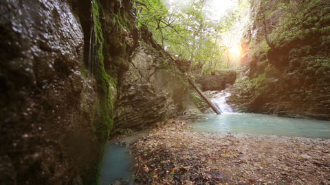 waterfall rufabgo in north caucasus russia Footage