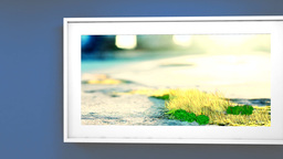 Animated Of Picture In Frame stock footage
