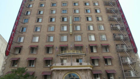 Cecil Hotel Building stock footage