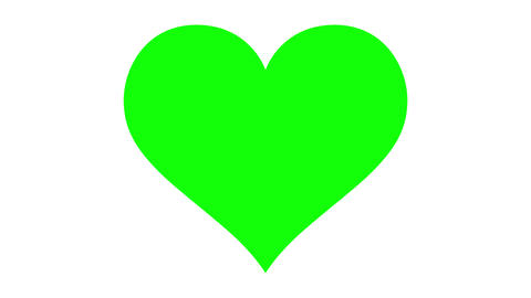 Loopable Beating Green Screen Heart stock footage