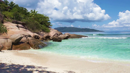 Seychelles Beach stock footage