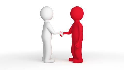 Two People Shaking Hands stock footage