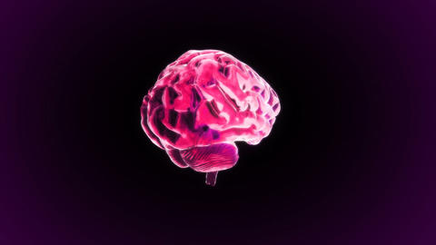 Red Brain Rotate stock footage
