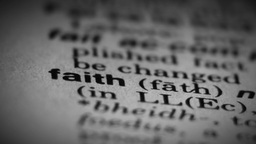 Faith Word, Dictionary Definition stock footage