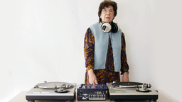 granny dj disco music retired elderlyfun club party awesome Footage
