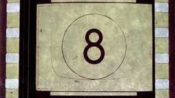 Universal Film/academy Leader Countdown stock footage