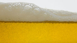 Beer splash white yellow fast Footage