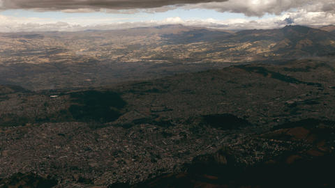 Overcastted Quito stock footage