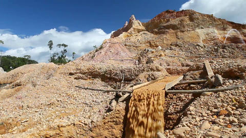 Gold Extraction Part 2 stock footage