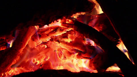 Fire Detail stock footage