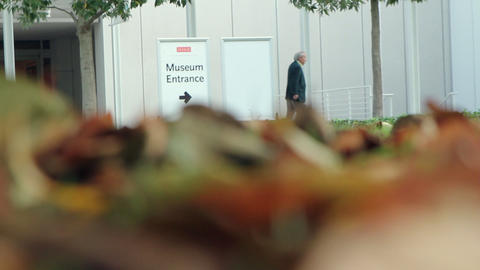 Museum Entrance stock footage
