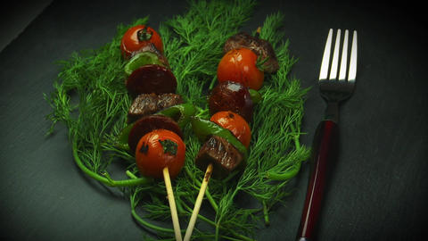 Spanish Pinchos stock footage
