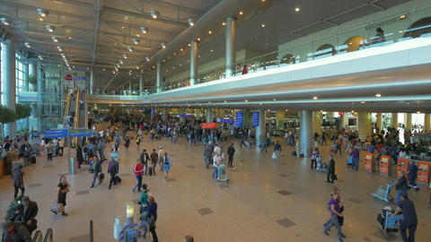 Interior Of Moscow Airport, Russia stock footage