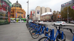 Point Of View Shot Of Walking In Downtown Melbourne, Australia stock footage