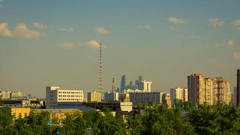Moscow City Time Lapse Footage stock footage