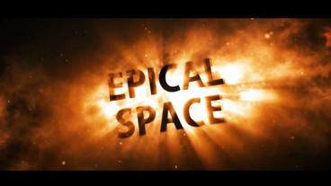 Epical Space Red Version stock footage