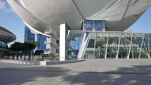 ArtScience Museum At Marina Bay Sands, Singapore stock footage