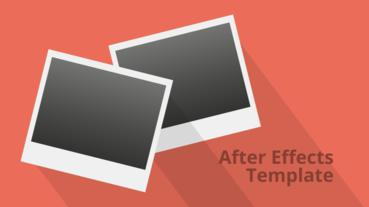 Falling Photos Slideshow - Retro After Effects Template stock footage